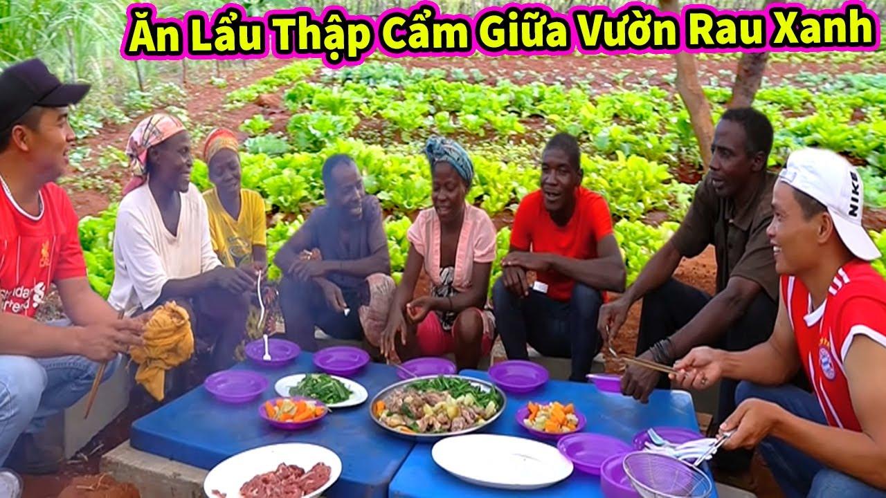 Quanglinhvlogs | Buffet Lẩu Rau Siêu To Tại Vườn - Người Dân Tự Thưởng Thức Thành Quả Mình Làm Ra