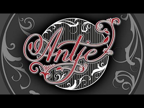Lettering a Vintage Logo in Adobe Illustrator - How to design the Name Antje
