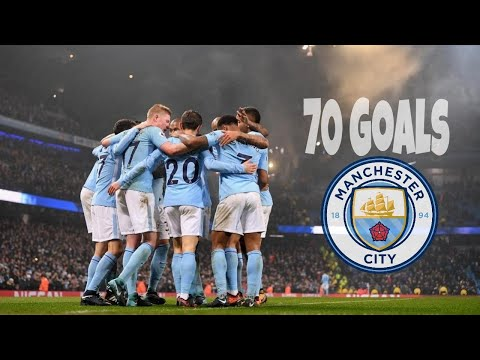 Manchester City EPL 2017 / 18 - All 70 Goals So Far