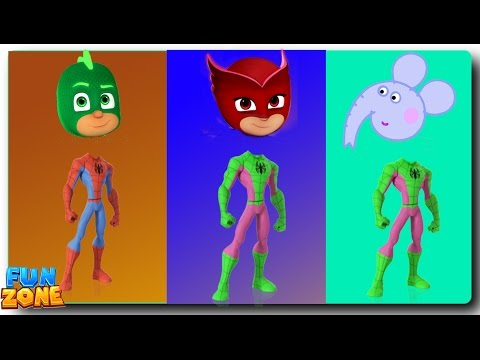 Thumbnail: Wrong Heads Spiderman PJ Masks Paw Patrol Finger Family Learning Colors for Kids