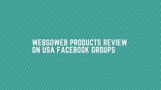 How to share your WebGoWeb products review on USA facebook groups