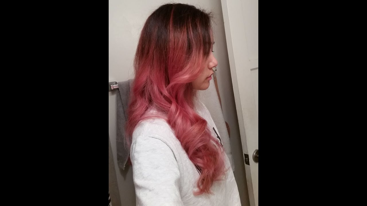 Pink Hair Dye Ombre Youtube