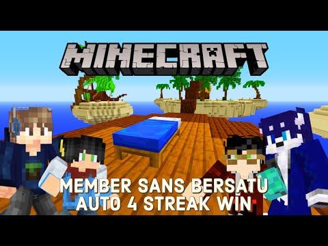 Member SANS SMP Mainin Bed WARS AUTO 4 STREAK WIN | Minecraft Indonesia