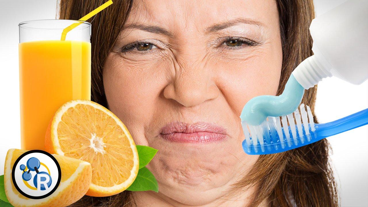 Why Does Toothpaste Make Orange Juice Taste Bad? - YouTube
