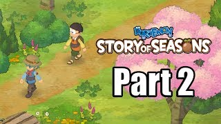 Doraemon Story of Seasons (2019) Switch Gameplay Walkthrough Part 2 (No Commentary)