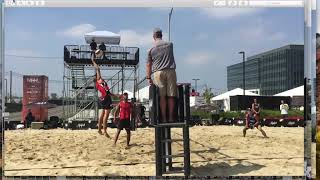 Beach Volleyball Setting; How far from the net is the perfect set?