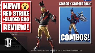 RED STRIKE Starter Pack Review in Fortnite | BEST COMBOS