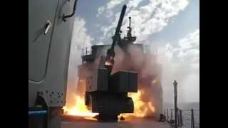 Egyptian Navy - ASROC Anti Submarine Missile launch from a Knox Frigate