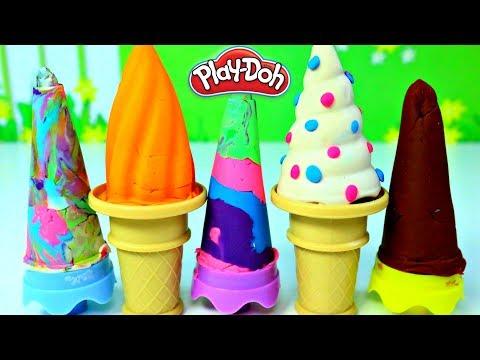 Paletas Arcoíris de Plastilina Play Doh Rainbow Popsicles|Mundo de Juguetes