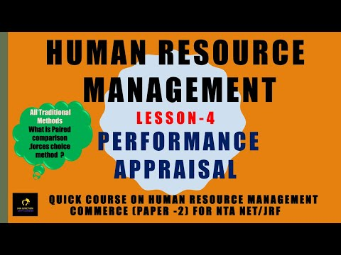 traditional-methods-of-performance-appraisal-(-lesson-4)