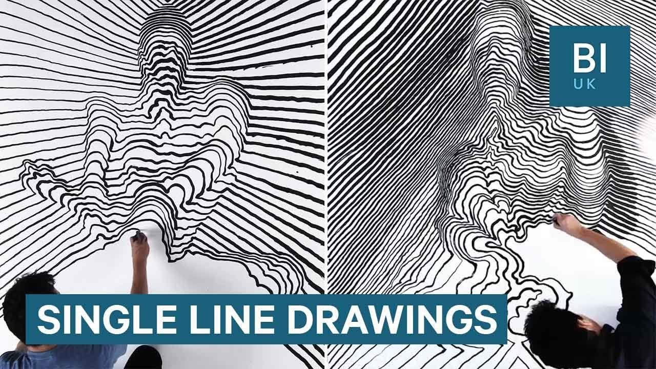 The Line Artist : This artist creates d paintings using single lines of paint youtube