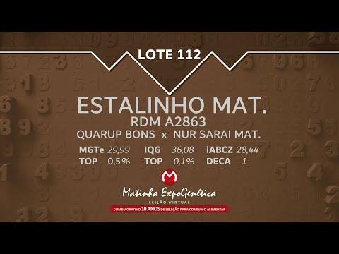 LOTE 112 MATINHA EXPOGENÉTICA 2021
