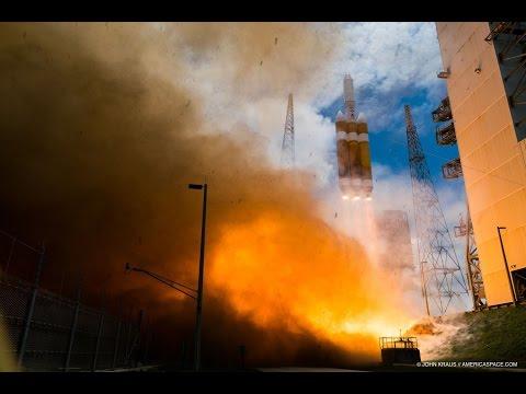 FEEL ULA's Delta-IV Heavy Launch from 1.5 Miles (NRO 37) - 1080 HD