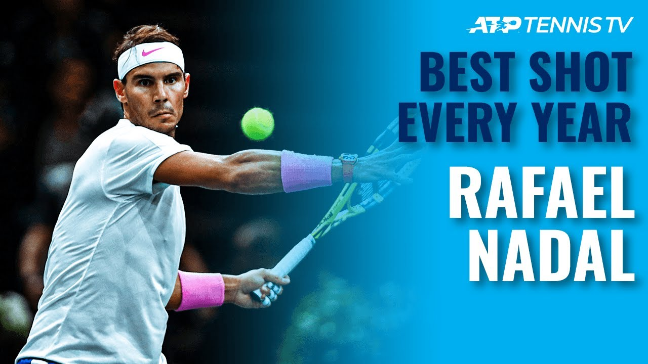 Rafael Nadal: Best Shot Every Year on Tour | 2003-2020