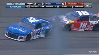 Monster Energy NASCAR Cup Series Chicagoland 2018 Finish Busch vs Larson