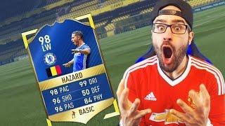 OMG WE GOT 98 TOTS HAZARD!!!! FIFA 17 Ultimate Team