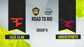 CS:GO - mousesports vs. FaZe Clan [Mirage] Map 1 - ESL One: Road to Rio - Group B - EU