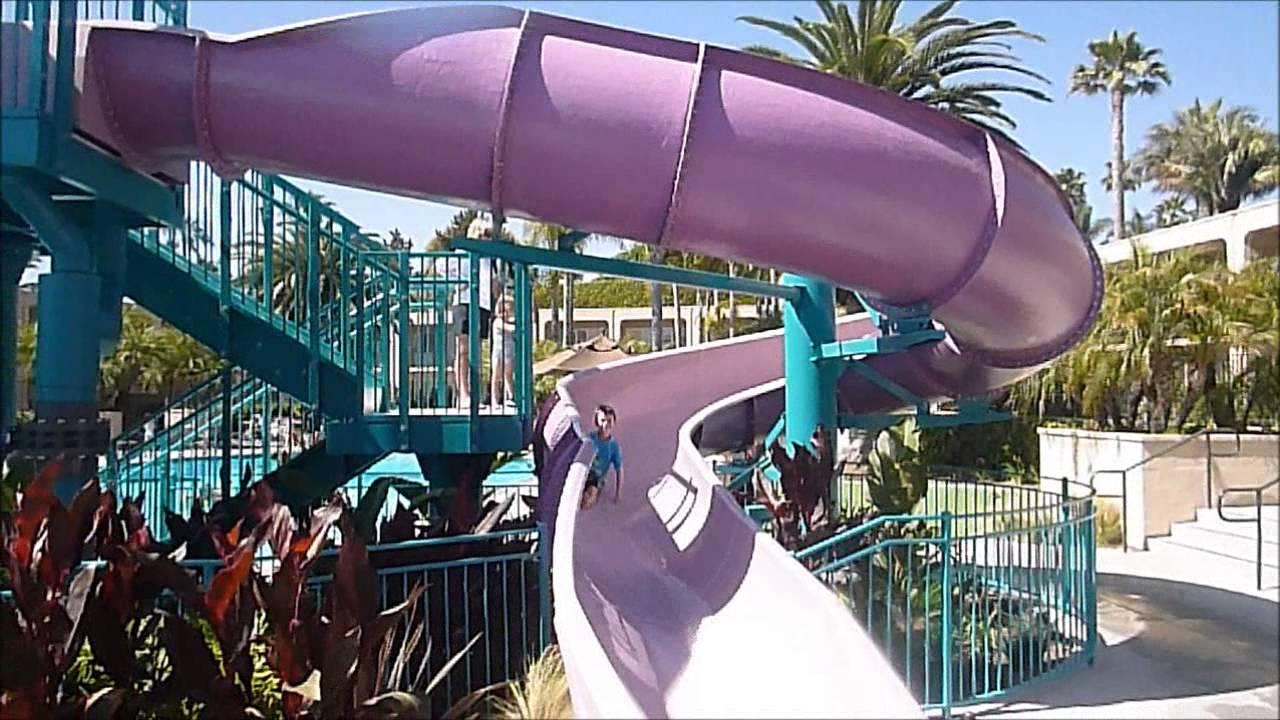 Hyatt Regency Newport Beach Water Slide Is Visited By Lawithkids Com Youtube