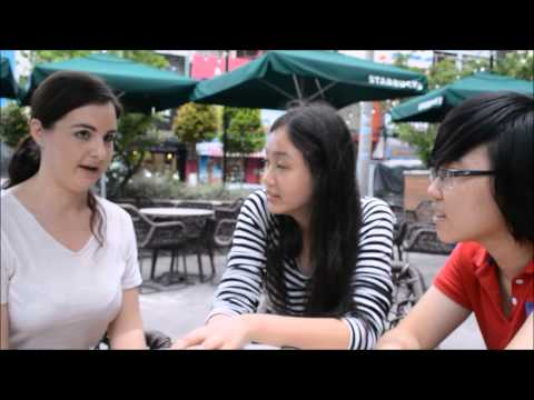 Vietnamese Students Interview Foreigners in Saigon