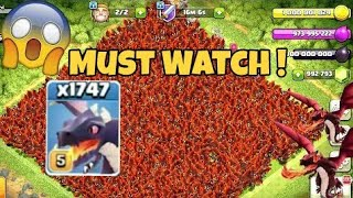 OMG ! UNLIMITED MAX DRAGONS x9999 DRAGONS Attack | Clash of clans private serve - coc private server