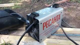 Обзор  на практике Сварочный аппарат Ресанта 220А