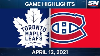 NHL Game Highlights   Maple Leafs vs. Canadiens - Apr. 12, 2021