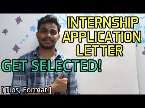 How To Write The BEST INTERNSHIP APPLICATION LETTER And GET SELECTED! ✌🏻
