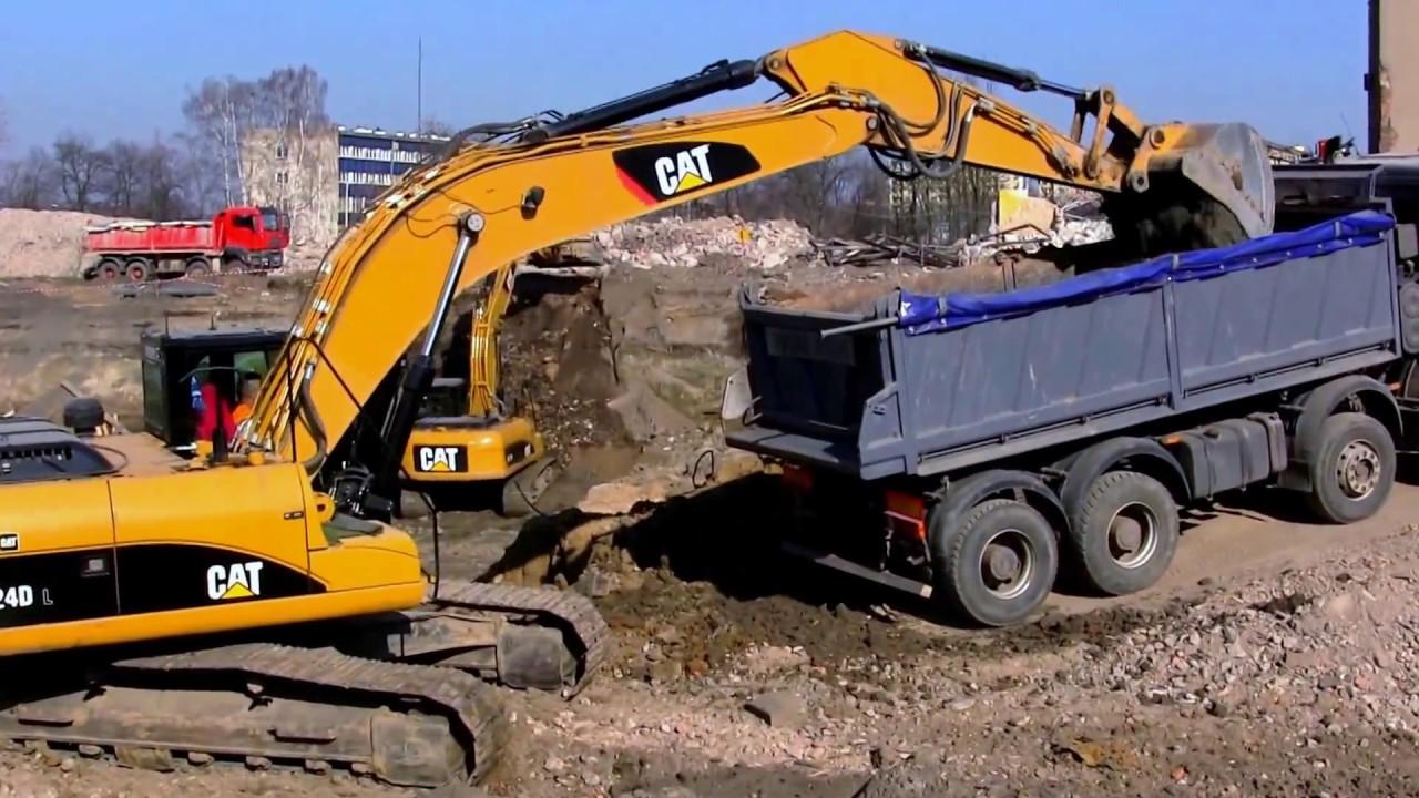 Escavatori caricatori bulldozer grande costruzione