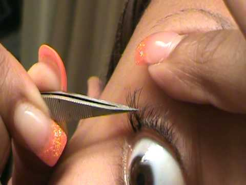 1dbd1a4d5f2 How to apply individual lashes - YouTube