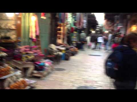 We Visit the Christian Quarter in the Old City, Jerusalem, Israel...