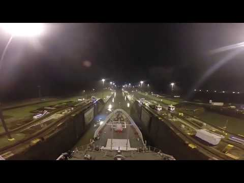 Frigate Cristobal Colon, Panama Canal transit
