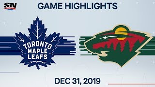NHL Highlights   Maple Leafs vs. Wild - Dec. 31, 2019