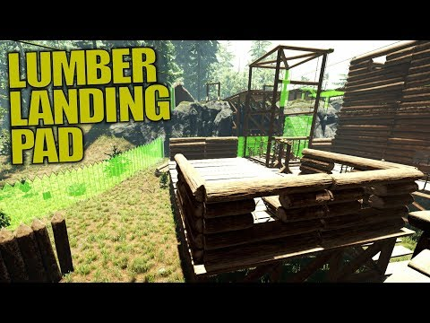 LUMBER LANDING PAD | The Forest | Let's Play Gameplay | S14E20