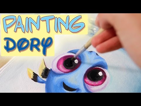 Painting Baby Dory and Piper