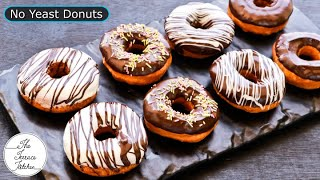 No Yeast Donuts Recipe | Fluffy Donuts Without Eggs & Yeast ~ The Terrace Kitchen