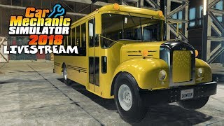 Mack Bus Junkyard Rebuild (Mod) - Car Mechanic Simulator 2018 Gameplay - Livestream