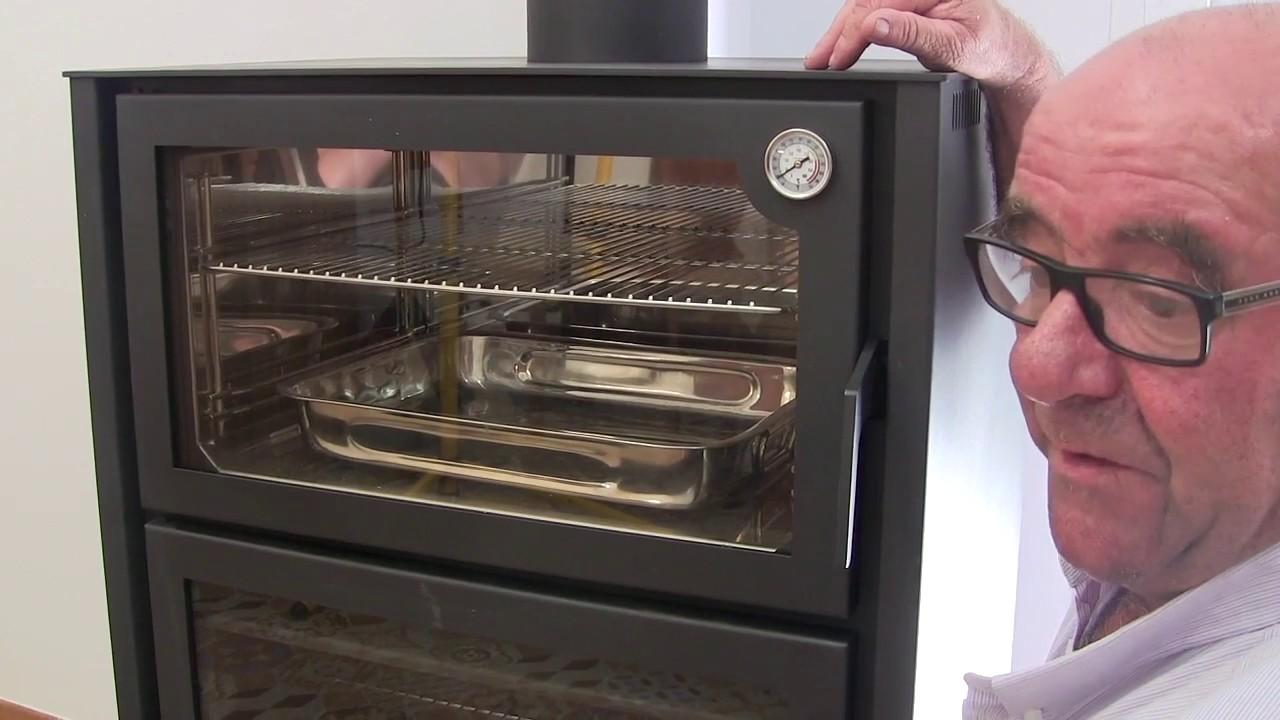 Estufa de le a con horno hergom arce youtube - Estufas de lena con horno ...