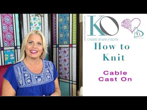 Kristin Omdahls Knit Stitch Library: How to Knit Cable Cast On - YouTube
