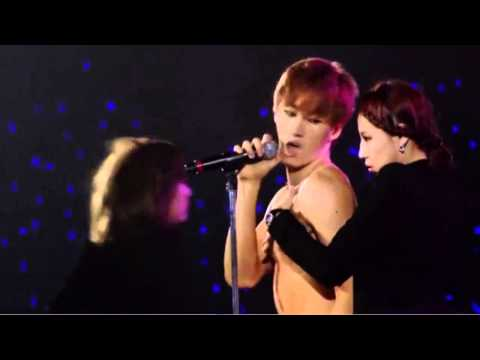 [SUPER JUNIOR SS4 DVD] Eunhyuk SORRY SORRY ANSWER SOLO+ Donghae watching clip