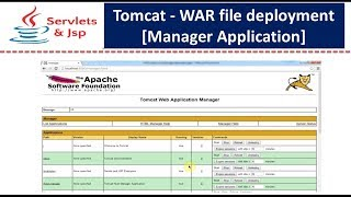 Tomcat - war file deployment [Manager Application]
