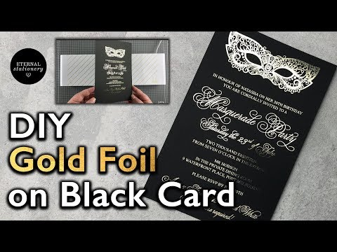 how-to-gold-foil-on-black-cardstock-|-adobe-illustrator-tutorial-with-minc-|-wedding-invitation-diy
