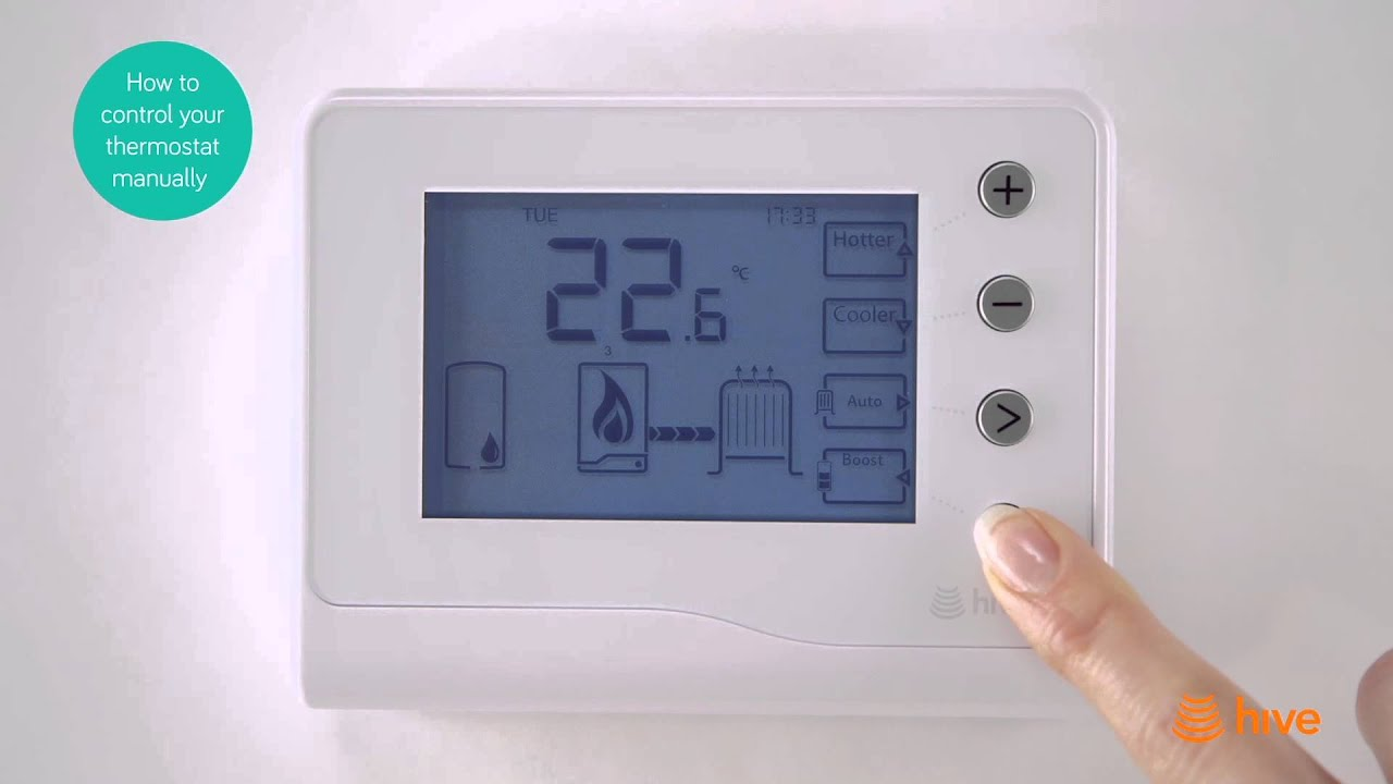 Hive - How To Control Your Thermostat Manually - Bord Gáis Energy ...