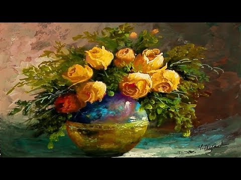 Gouache Painting Vase With Roses By Yasser Fayad Youtube
