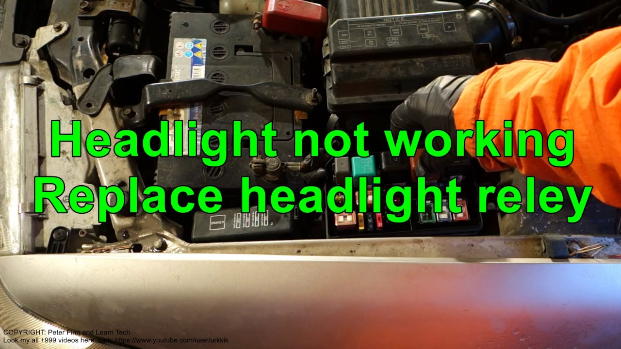 Headlight is not working. Replace headlight relay - YouTube