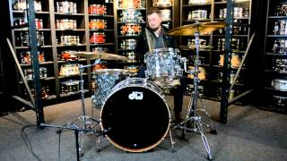 Dw Collectors Maple/mahogany 3pc In Silver Abalone Finish Ply