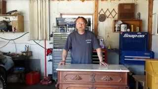 Refinishing A Walnut Eastlake  Dresser At Timeless Arts Refinishing