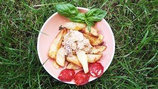 Картошка по селянски с белыми грибами