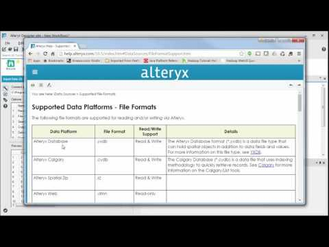Connecting to a File from Alteryx Designer - YouTube