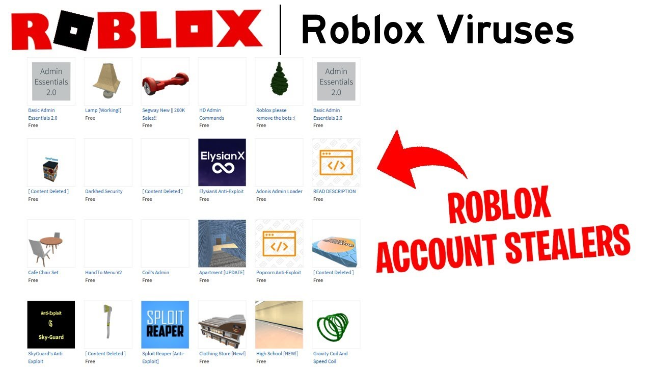 The Roblox Library Is Filled With Viruses That May Infect Your Pc