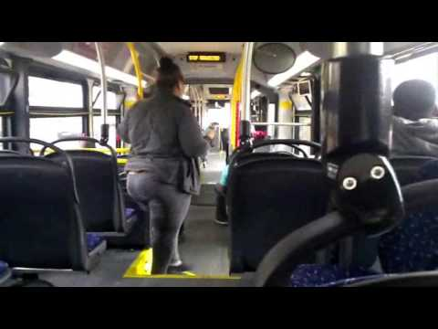 Articulated bus on Akron Metro route 1